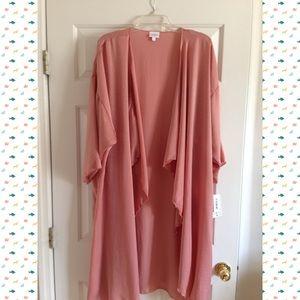 NWT Lularoe Large Dusty Pink Shirley Kimono